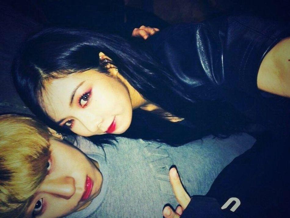 Zico Kim Hyuna 4minute I wanna be like them. They had same maked up.