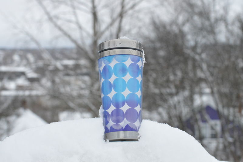 Blue Close-up Coffee In A Cold Day Coffee Time Coffee ☕ Covering Day Focus On Foreground Mug Mugs Nature No People Outdoors Part Of Selective Focus Snow ❄ Snowy Days... Weather White White Color Pivotal Ideas