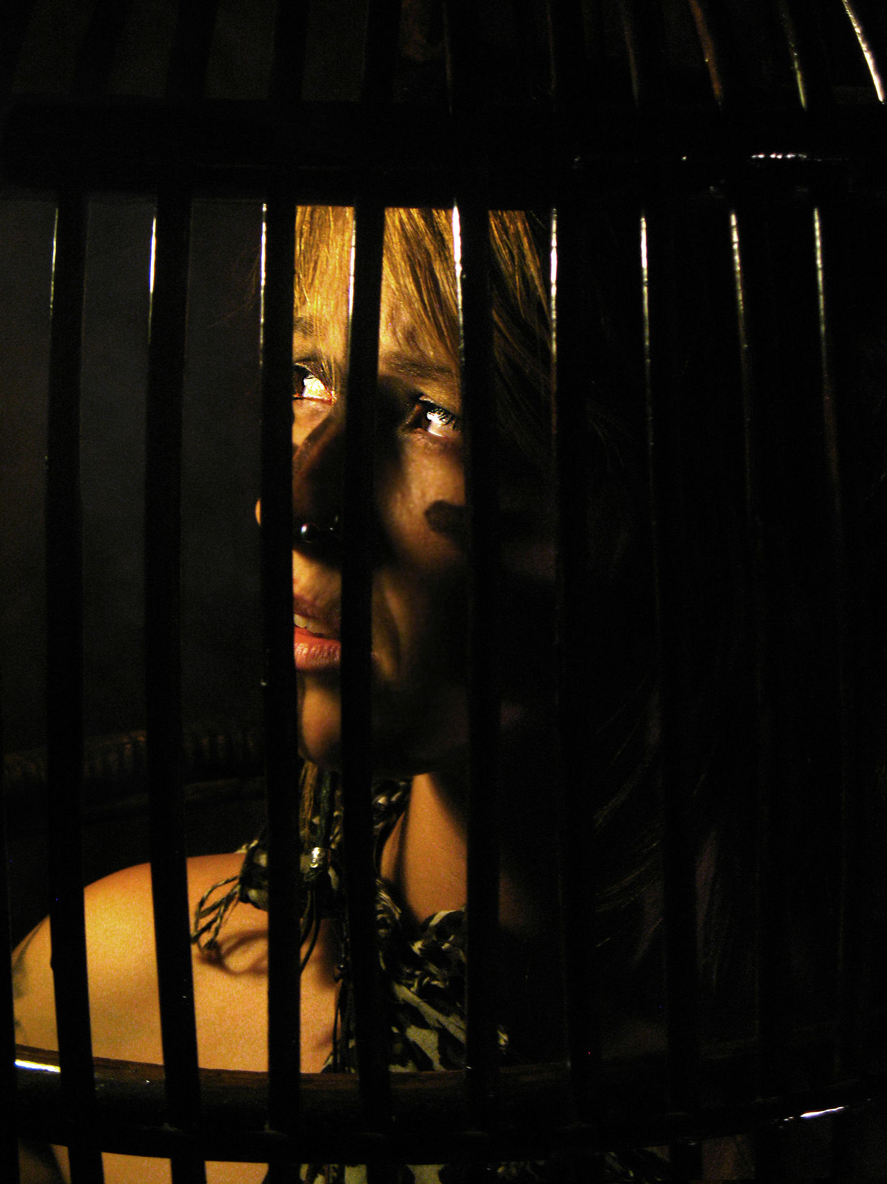 WIld prisioner Aboriginal Bounden Cage Caged Caged Freedom Escape From Reality Freedom Girl In A Cage Indian Indoors  Jail House Liberty One Person People Portrait Portrait Of A Woman Prision Prisioner Real People Wild Wild Girl Woman