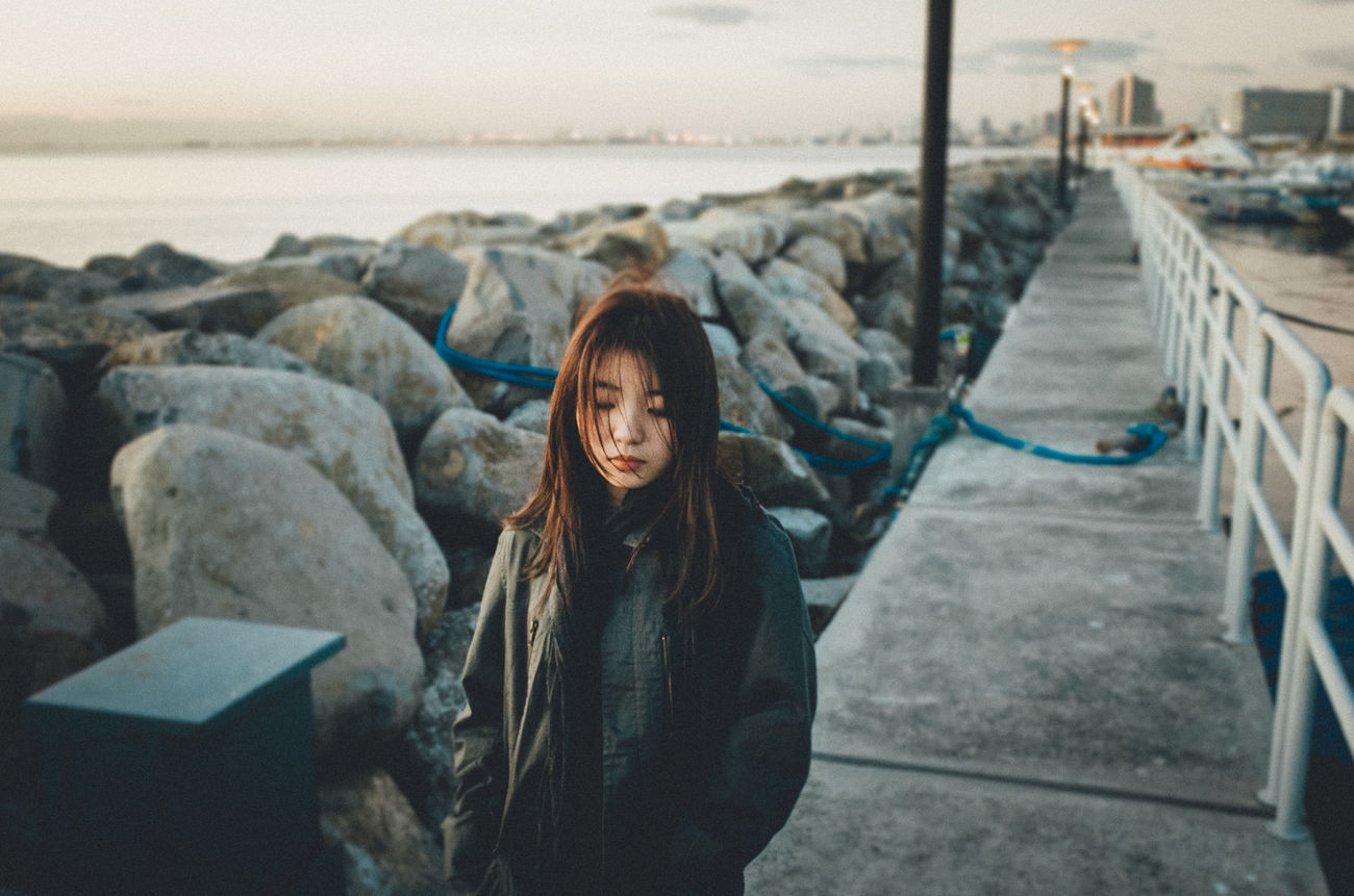 EyeEm Best Edits Eyeem Philippines Golden Hour Outdoors Portrait Portrait Of A Woman Seaside Women