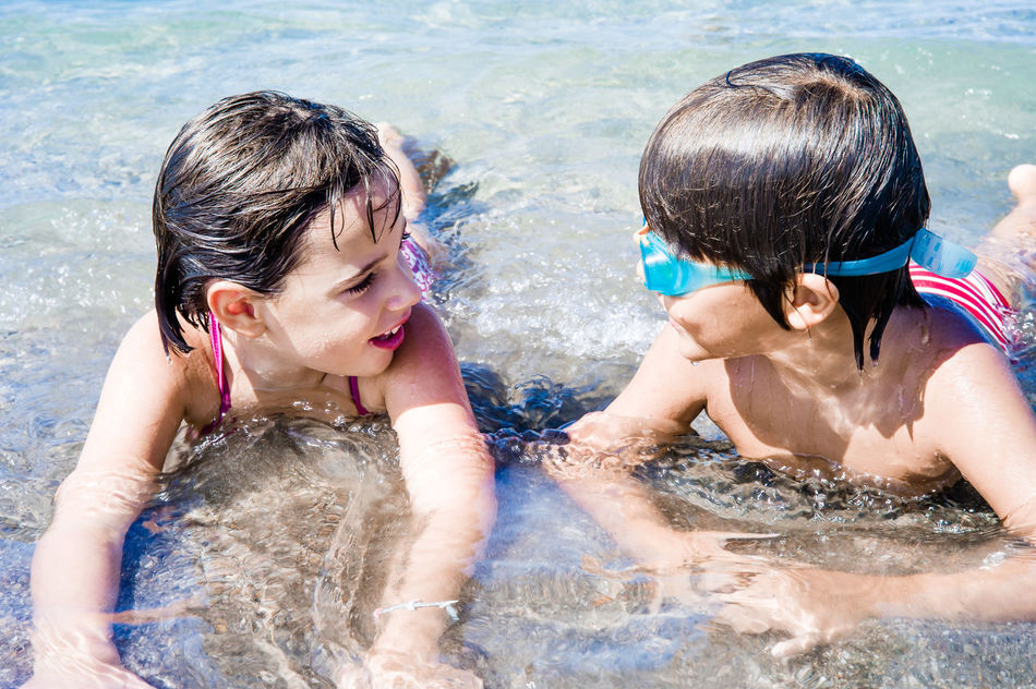 Beautiful stock photos of schwimmen, swimming pool, child, water, two people