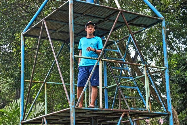 Biru yg indah Lifestyles Architecture Built Structure Standing Outdoor Activity Outdoorlife Outdoors Outdoor Beauty Blue Color Blue Eiger Consina Cozmeed INDONESIA