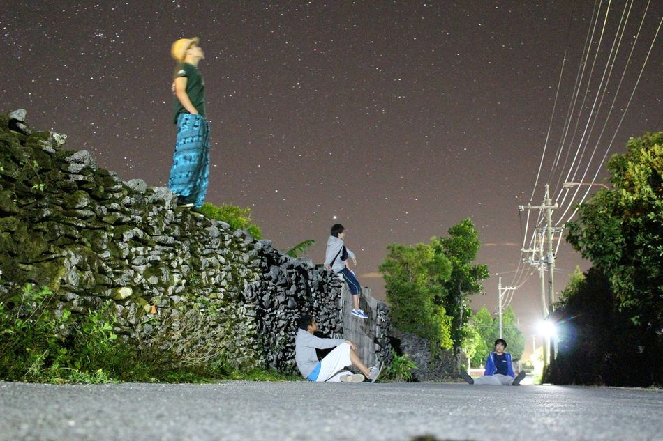 修学旅行 沖縄 伊是名島 Japan 星 星座観察 Star