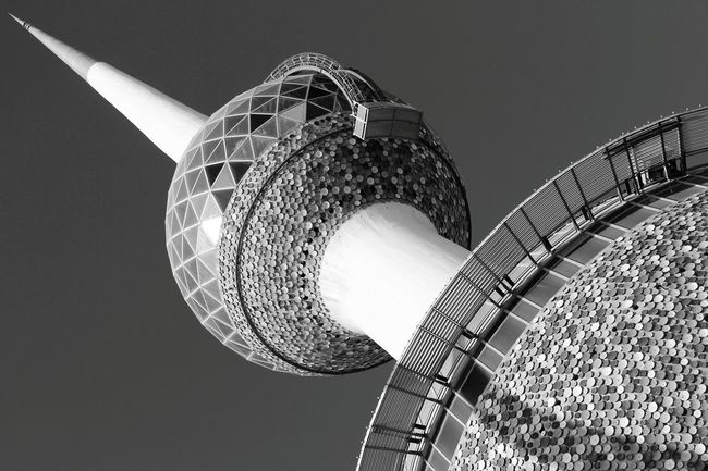 Kuwait towers from my point of view. Photography Kuwait Towers Black&white Canon Canon60d Kuwait Photooftheday