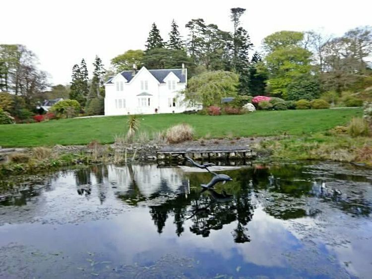 2010, Port Appin Water House Waterfront Tranquility Botanic Garden Scotland Scottish Highlands Reflection Port Appin
