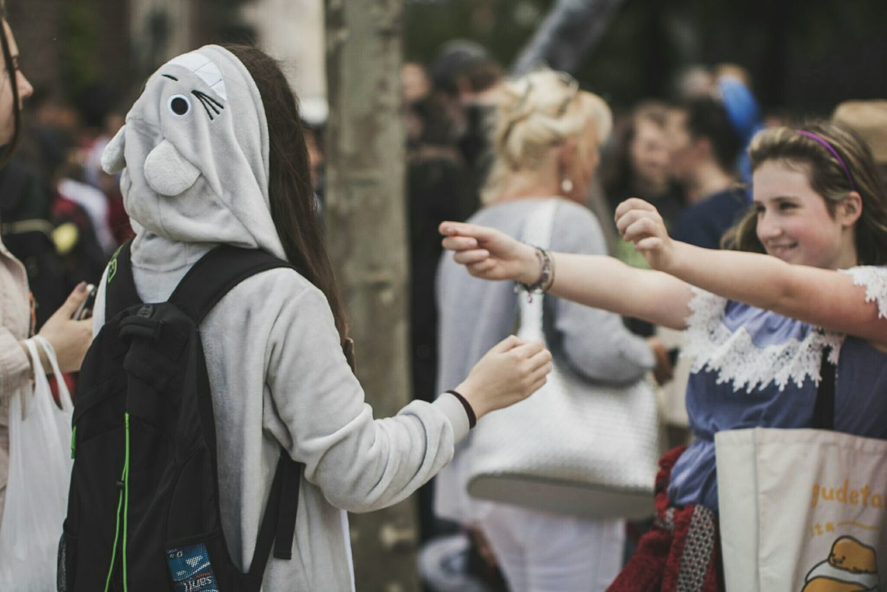 ~ 🙆🐼~ Hood - Clothing Hooded Shirt Women People Young Women Adults Only Business Finance And Industry Outdoors Young Adult Day Human Body Part Lifestyles Togetherness Only Women Crowd Real People Human Hand Riot Communication Düsseldorf Happiness Friendship The Street Photographer - 2017 EyeEm Awards Cosplay Tororo