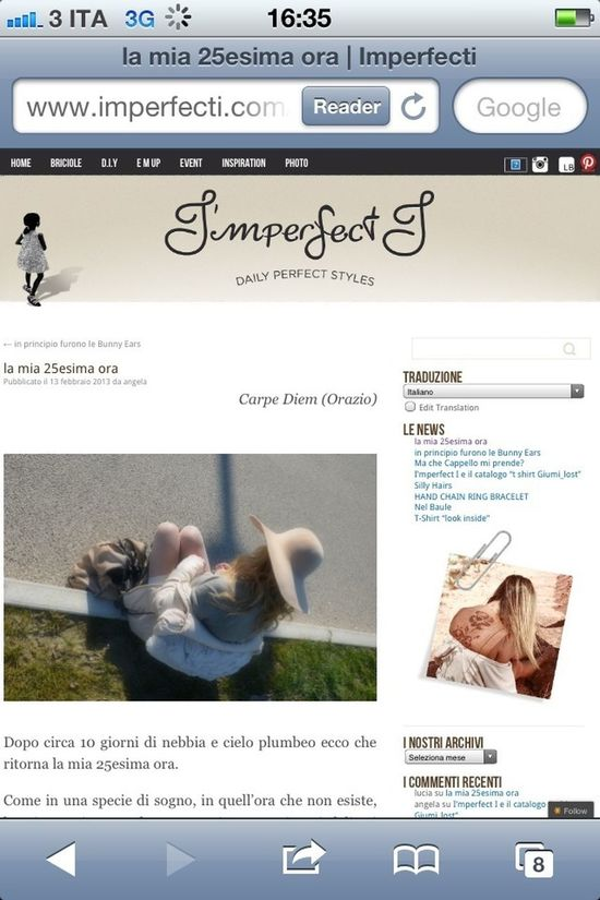 Www.imperfecti.com New Post Follow Me