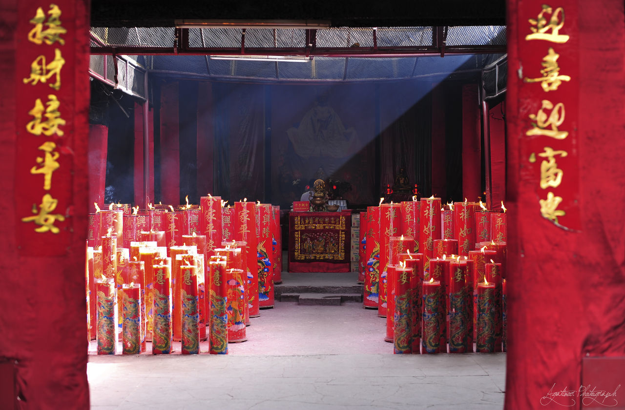 red, spirituality, religion, place of worship, shrine, curtain, no people, day, outdoors