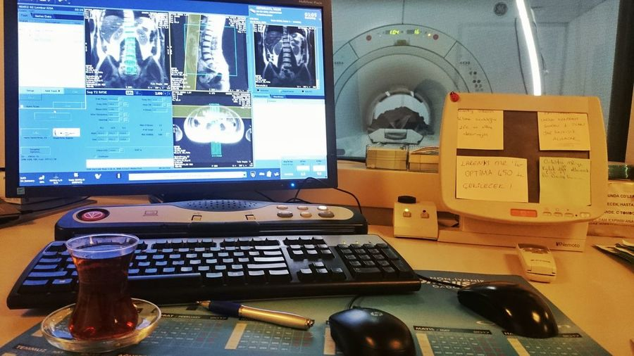 Desk No People Technology Indoors  Day Magnetic Magneticresonanceimaging Work Geelectrics Radiographer Hakandirik Tea Time Turkey Ankara Night Healthcare And Medicine Hospital Time Magnetic Resonance General Electric Work Time Myjob Radiology Department Radiologist Radiology Job Interview