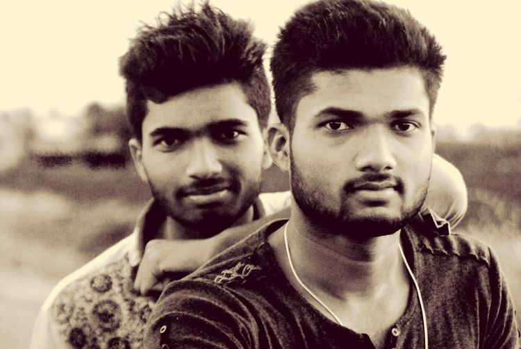 Photography with brother ✌️ Looking At Camera Portrait Headshot Leisure Activity Young Men Focus On Foreground Lifestyles Young Adult Close-up Friendship Casual Clothing Facial Expression Person Person Handsome Friend Human Face First Eyeem Photo