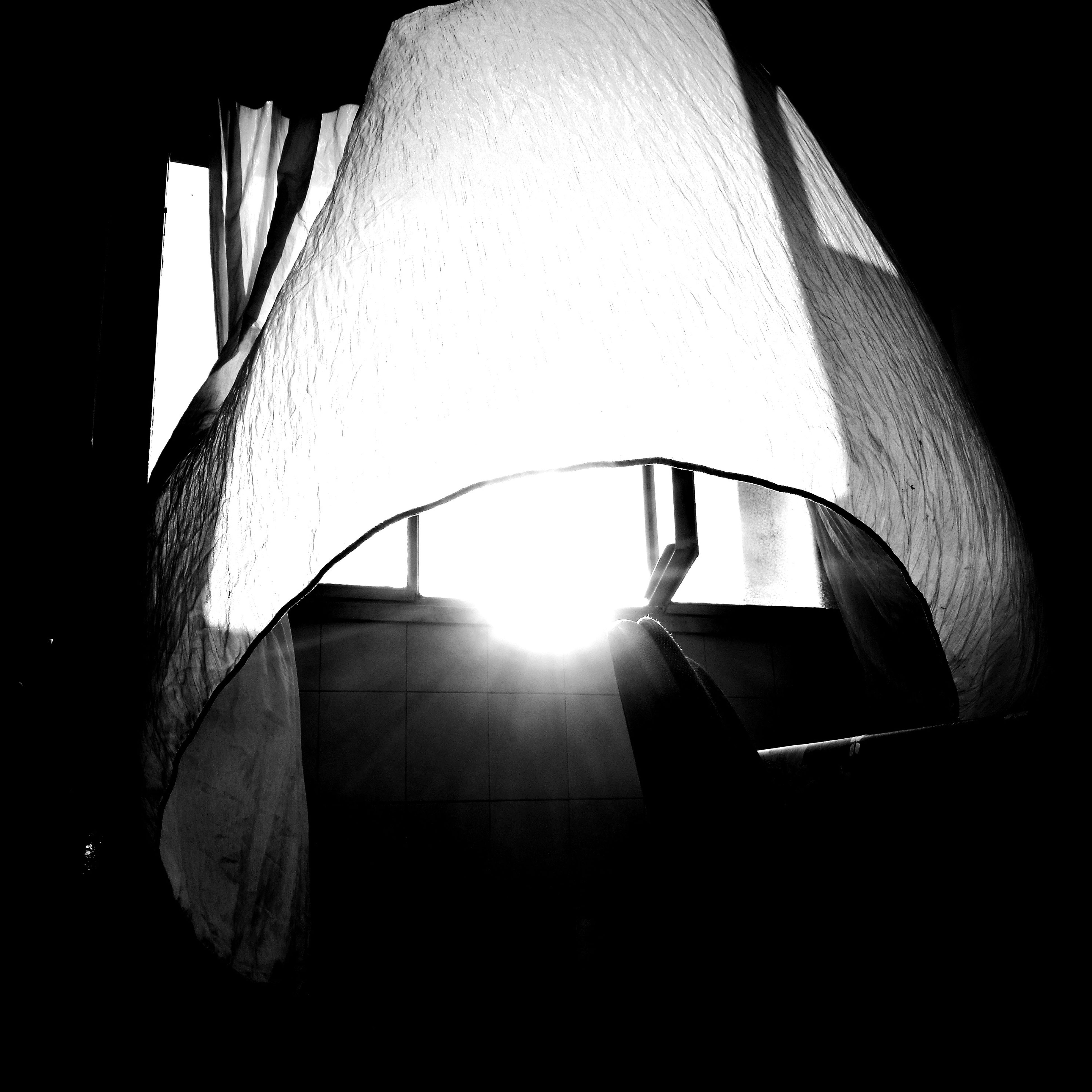 illuminated, indoors, lighting equipment, no people, sunlight, architecture, built structure, lamp shade, modern, close-up, day
