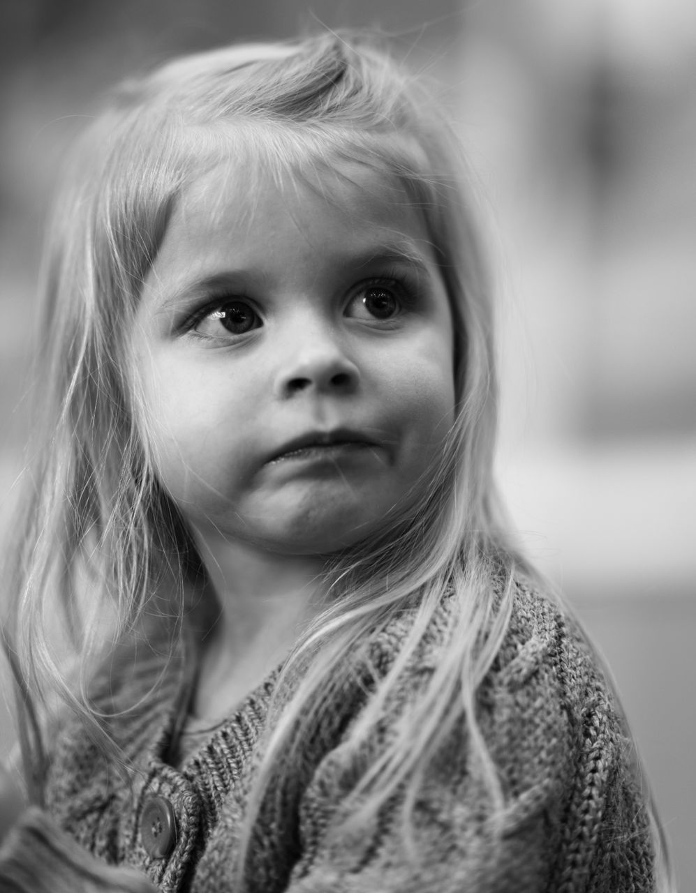 childhood, looking at camera, one person, real people, cute, innocence, portrait, focus on foreground, blond hair, front view, headshot, girls, close-up, outdoors, human face, day, warm clothing, people