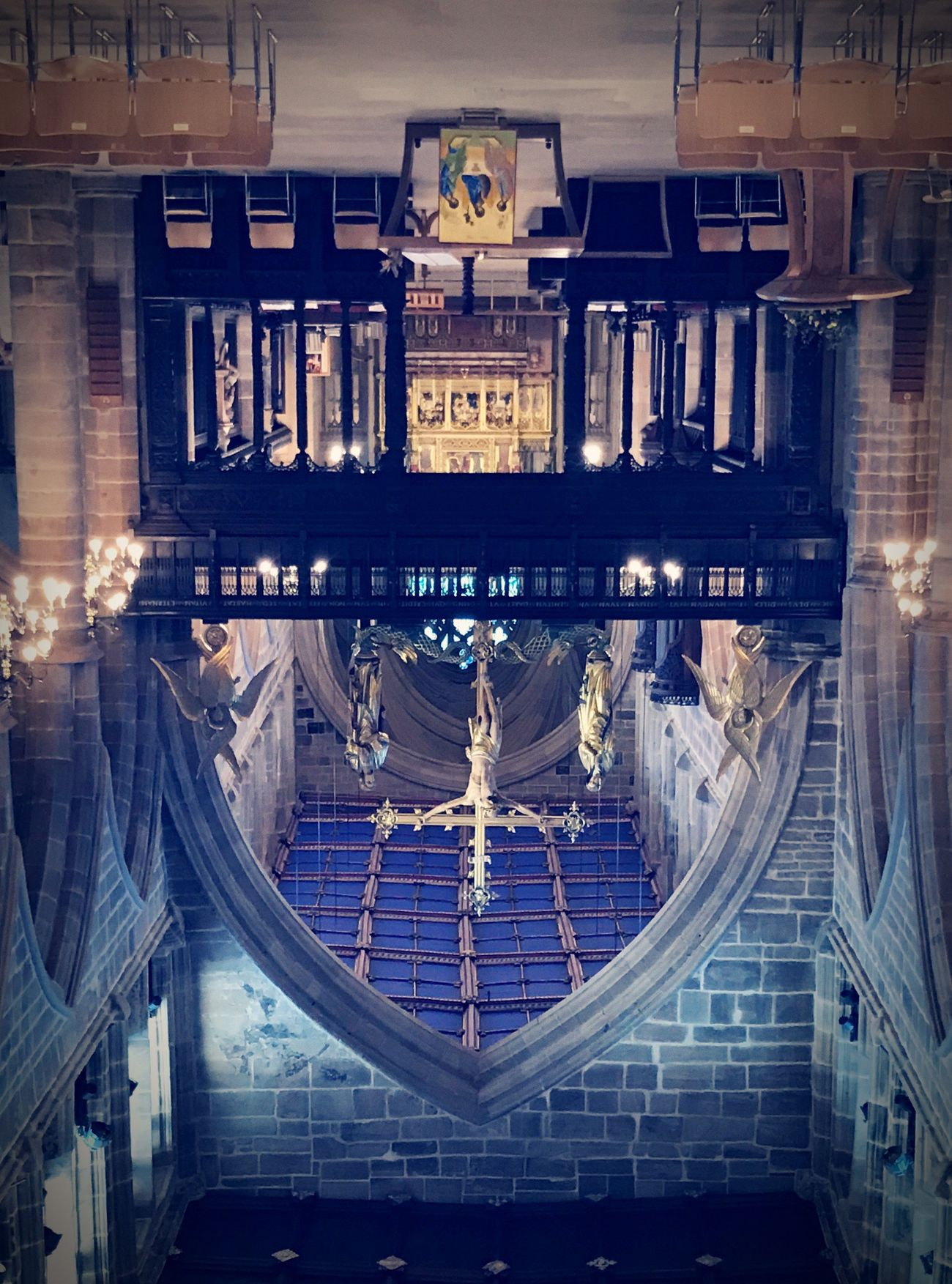New angle... 💒 ✝️ Indoors  Travel Destinations Architecture No People Night Illuminated Day Architecture England The Past First Eyeem Photo History Inspiration Fortified Wall Built Structure Frontal Shot Upside Down Upsidedown UpsideDownShot Upsidedownphoto Resist