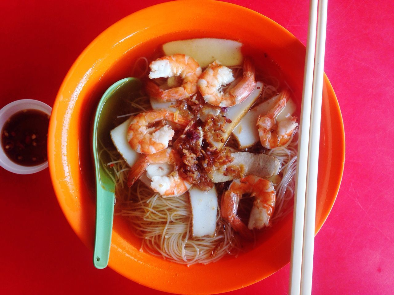 Food And Drink Food Freshness Ready-to-eat Indoors  Plate No People Healthy Eating Close-up Asian Food Meal Soup Thai Food Prawn Noodles