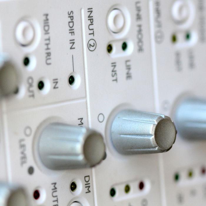 external sound card Audio Audio Equipment Bass Button Close-up Day Digital Equalizer External Indoors  Music Sound Sound Cards Switch Treble