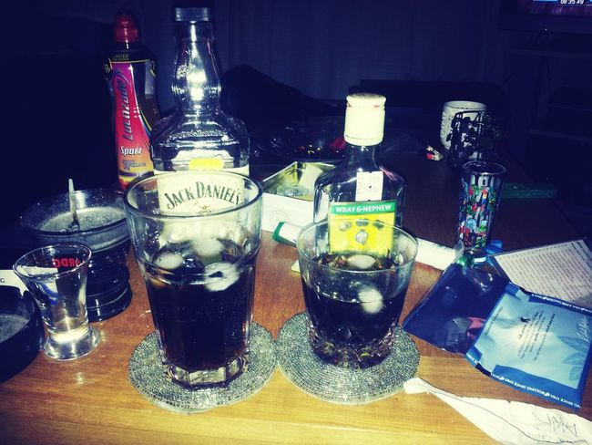 2 drinks for the king!! Drinks Enjoying Life Alcohol Jack Daniels