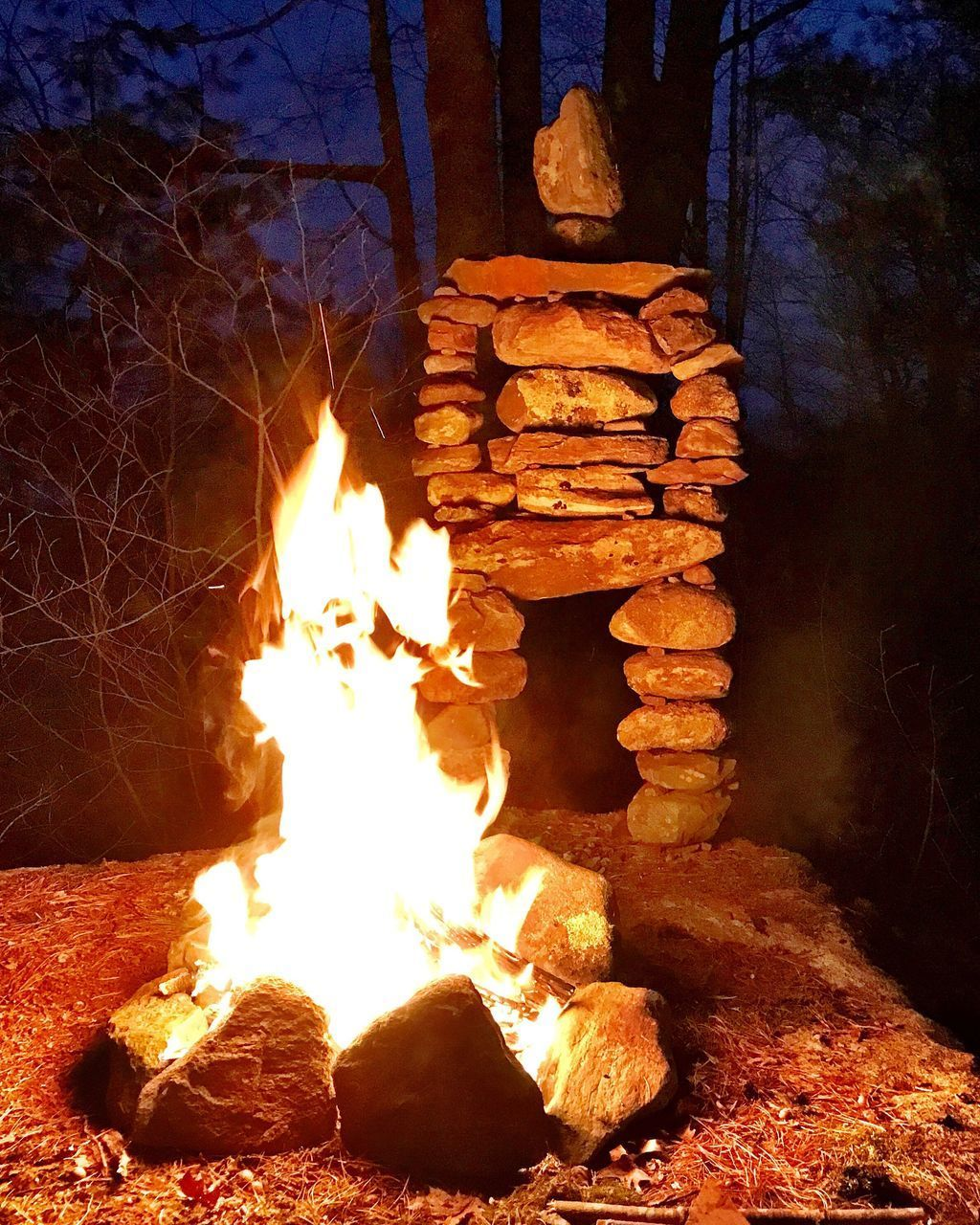 burning, night, flame, heat - temperature, no people, illuminated, outdoors, bonfire, nature, fire pit, close-up