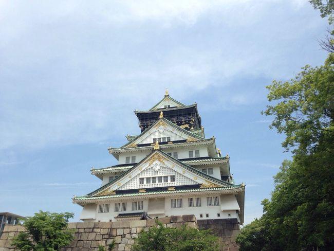 Osaka Castle Castle OSAKA Japan Trip Sightseeing Hot Summer Day Park Long Walk Japanese Castle Strong Sun