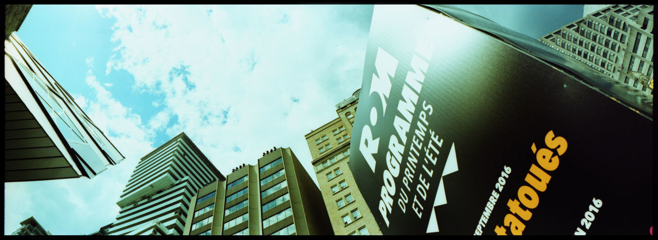 The ROM in Toronto Analogue Photography Architecture City Dinosaur Museum Dinosaurs Museum Museum Building Museums Of Toronto Northamerica Ontario, Canada Outdoors Panoramic Photography Rom ROM Museum Sights Of Toronto Streets Streets Of Toronto Summer Toronto Toronto ROM Urban Wendyceratops Xpro