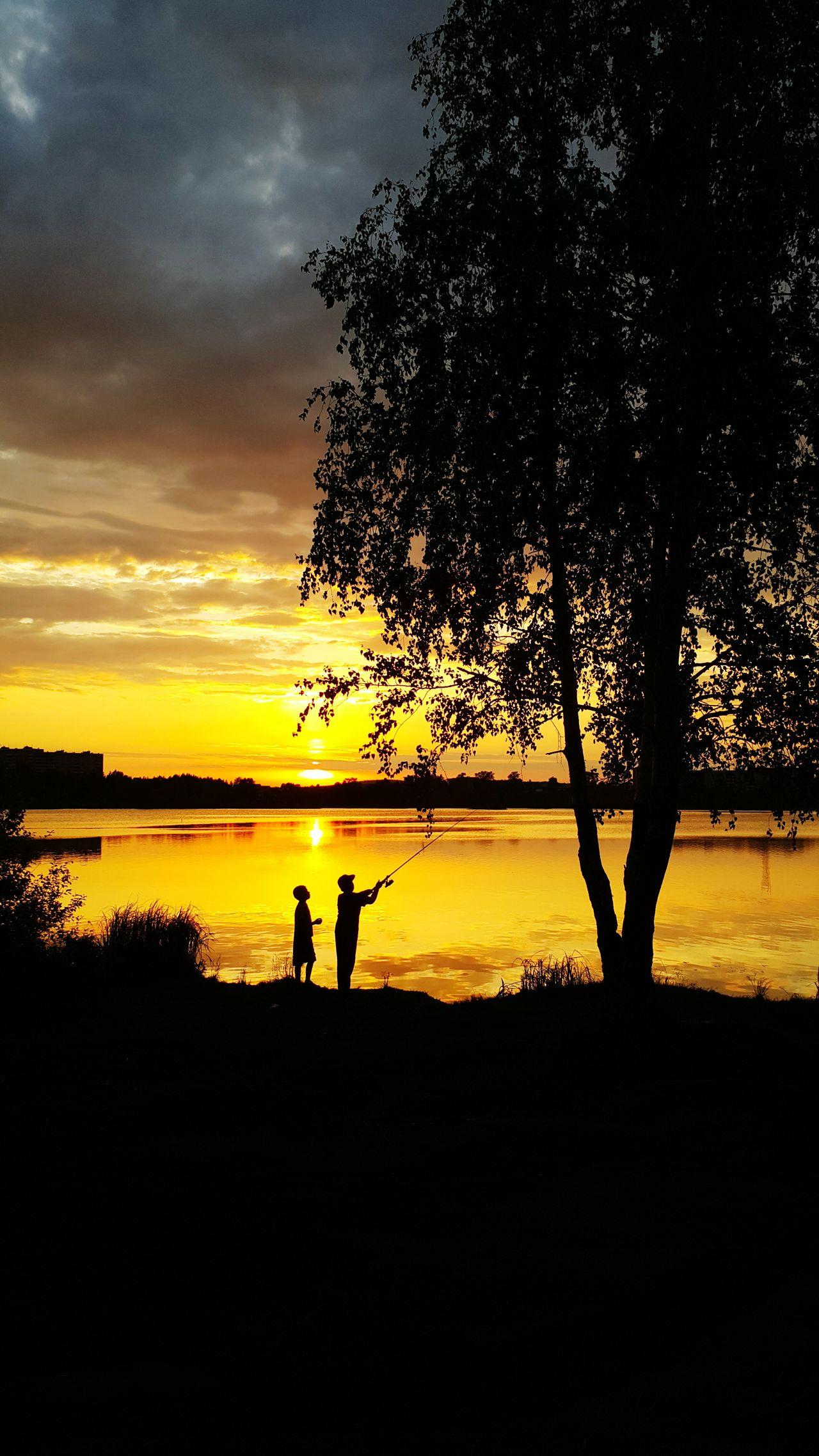 Evening Water Sky Sunset Fishing Good Night @Shedu_photo 📱
