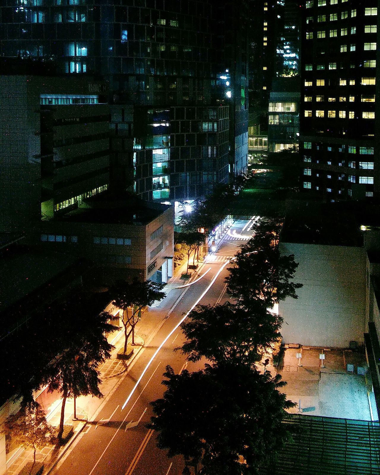 Speed of light. Night High Angle View Illuminated City Building Exterior Built Structure Architecture Road No People EyeEmNewHere City City Lights Cityscape Let's Go. Together.