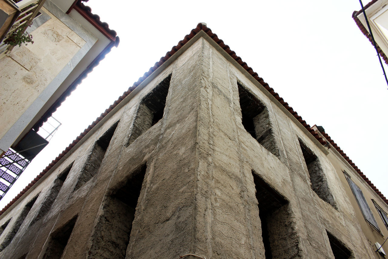 Angles Architecture Built Structure Concrete Day Greece Grey Lesbos Lesvos Looking Up Low Angle View No People