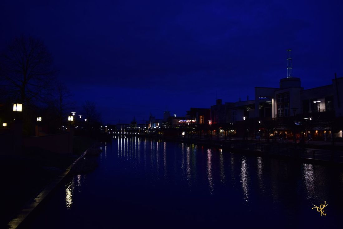 Architecture Building Building Exterior Built Structure Canal Centro Oberhausen City Dusk Gasometer Oberhausen Illuminated Lake Lighting Equipment Night No People Oberhausen Outdoors Reflection River Sky Street Light Tree Water Waterfront