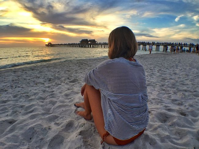 Sunset Naples Pier Beach Florida People Of The Oceans
