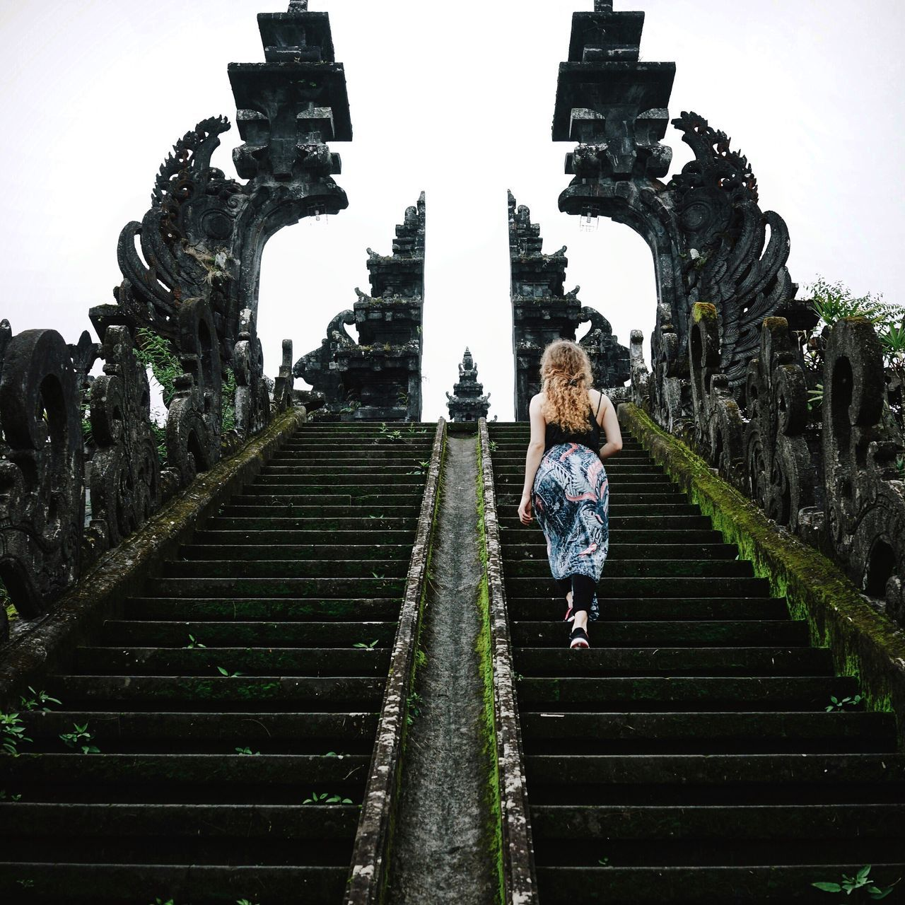 Beautiful stock photos of indonesia, railing, steps, full length, women