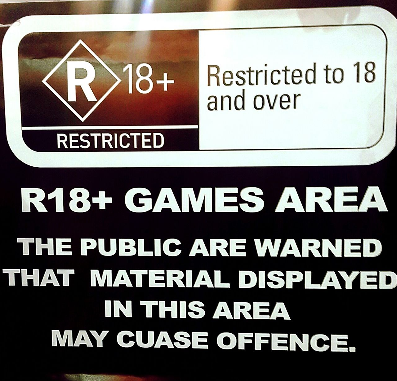 Text Notice Sign AlphaNumeric Alphabetical & Numerical Warning Sign Warning Warning Signs  Warningsign Warningstickerart Restricted Restricted Area Restrictedarea Restricted Zone 18+ 18+only 18+ Older Over18yearsold R18+ Over18 Signage Signs SignSignEverywhereASign SignsSignsAndMoreSigns Signs_collection