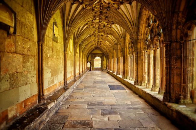 Arch Architecture Archway Building Built Structure Cathedral Ceiling Cloister Column Corridor Famous Place Gothic Historic History Light Light And Shadow Medieval Old's Cool Pattern Perspective Shades Of Gold Stone Symmetrical Tranquility The Architect - 2016 EyeEm Awards