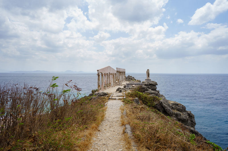 Acropolis ruins Acropolis Batangas Beauty In Nature Cloud - Sky Day Dried Fortune Island Grass Grecian Greek Horizon Over Water Landscape Nature No People Outdoors Philippines Remnants Ruins Scenics Sea Sky Tranquility Water