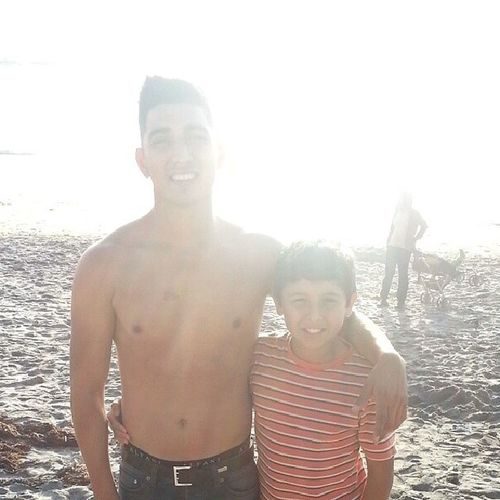 Chillin at the beach with my favorite little cousin :) Tamguapz PPG Fire