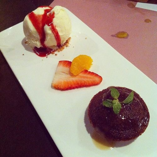 Sticky Date Pudding with Vanilla Ice Cream