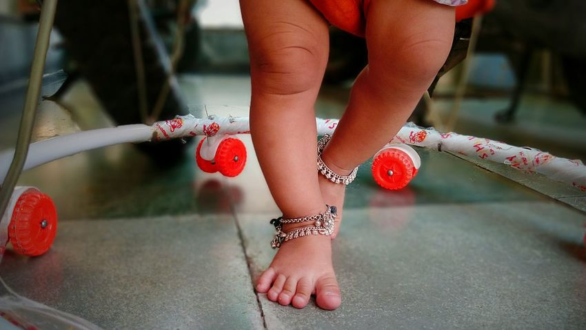 43 Golden Moments First Step  Baby ❤ Walker Anklet Jwellery Love पायजेब