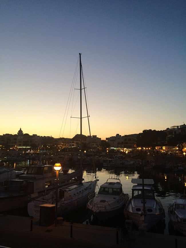 Boats Harbour Sea Mediterranean  Mallorca Sunset