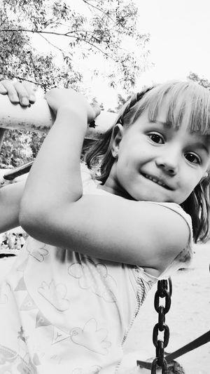 Happy Girl  B&W Portrait Kids Being Kids Kids Bestoftheday EyeEm Black And White Peoplephotography People Snapshots Of Life