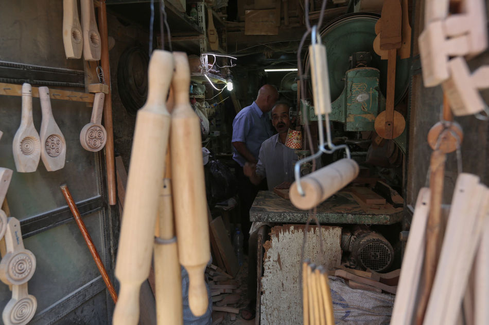 Inside Damascus, Syria. Damascus  Day Focus On Foreground Handmade Handwork Indoors  Inside Damascus Men Occupation One Person People Real People Skill  Syria  War Working Workshop