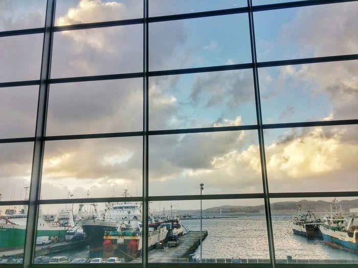 Port Of Vigo Windows Auditoriom Mar De Vigo Docked Boats Ría De Vigo Atlantic Ocean Ships At Sea Vigo, Galicia (España) vigo