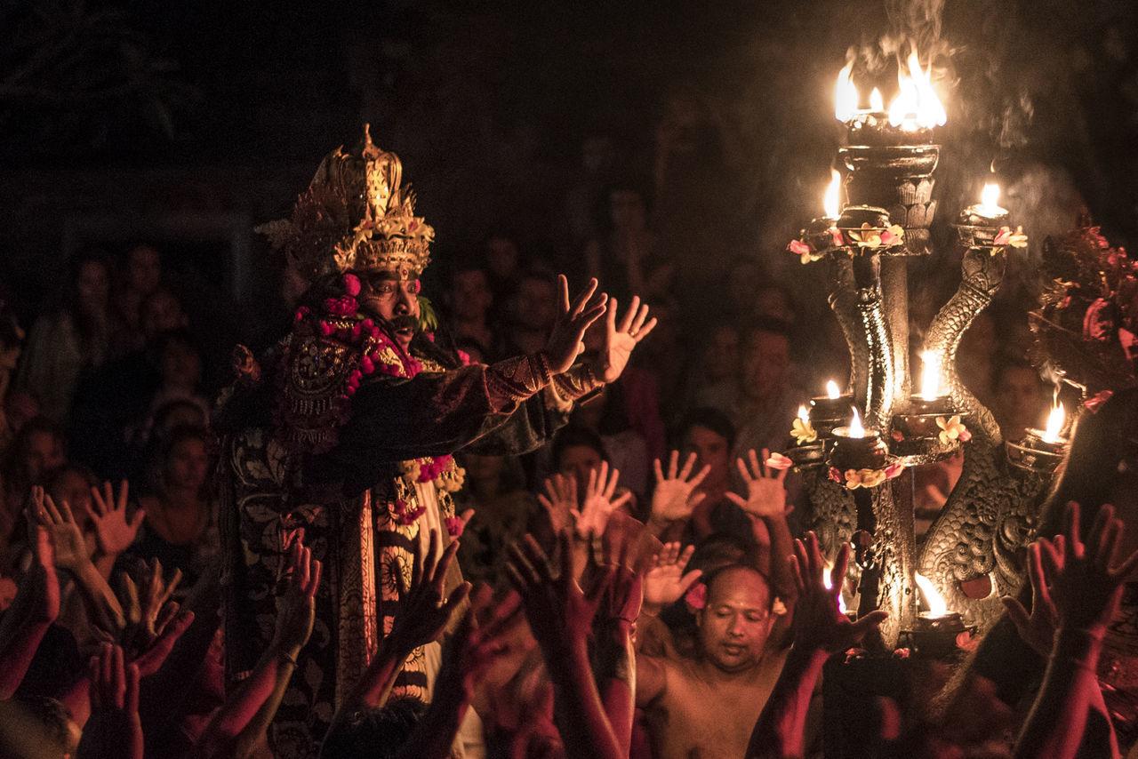 Bali Bali, Indonesia EyeEm Selects INDONESIA Night Lights Tradition Dace Fire Kecak Dance Night Traditional True