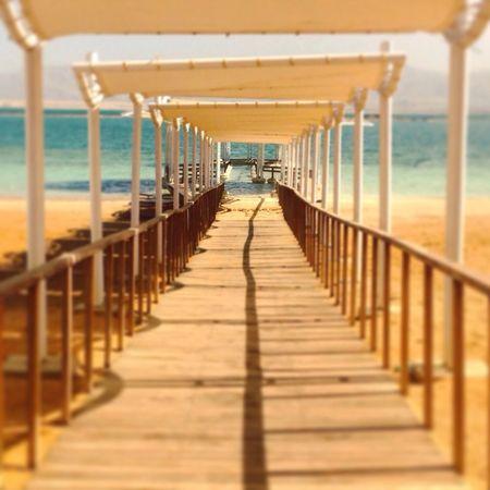 Dead Sea  Path Shade Tunnel Beach