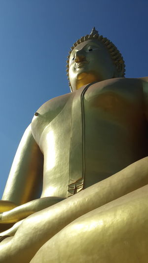 Statue Buddha Statue From Where I Stand Perspective Clear Sky No People The Purist (no Edit, No Filter) Capture The Moment Taking Photos Untold Stories Verybeautiful Verybig See What I See EyeEm Best Shots Eyeemphotography Spotted In Thailand
