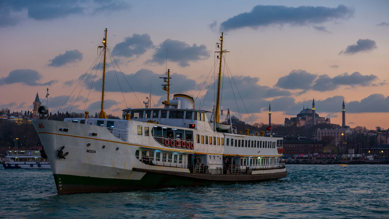 Karaköy Nautical Vessel Water Transportation No People Sea Outdoors Golden Horn Golden Horn Istanbul Architecture Ottoman Style Turkey Türkei Türkiye Harbor Yacht Travel Travel Destinations Istanbul Beyoğlu Sunset The Photojournalist - 2017 EyeEm Awards