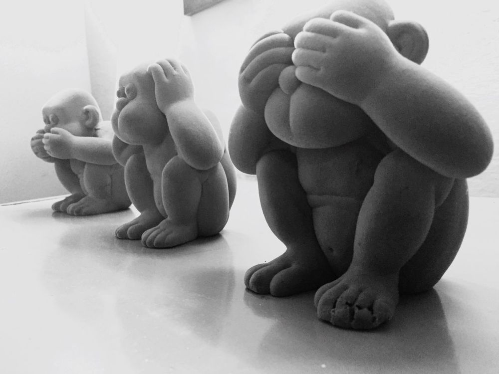Three Monkeys Gandhiji Blackandwhite Lovely Weather That's Me Hello World Cheese! Hanging Out Check This Out Taking Photos Light