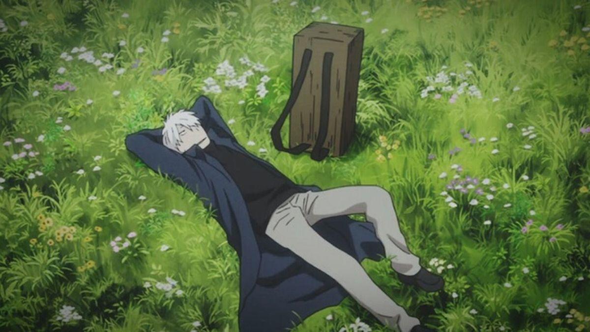 cover photo Mushishi Anime Animeboy Scenery Art Japan Grass Grassy Flowers Ginko Ginko Mushishi Manga