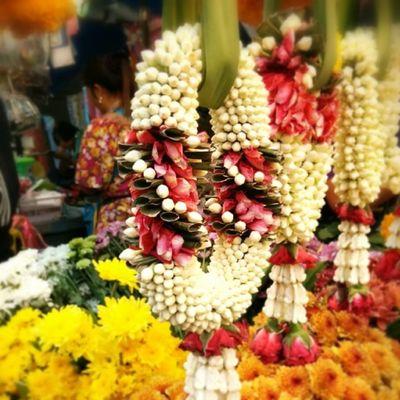 Les magnifiques offrandes de jasmin dans le quartier chinois de Hat Yai Travel