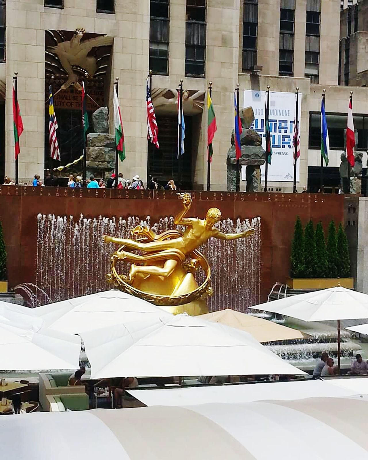 Travel Destinations Architecture Outdoors Love❤ Living Life To The Fullest❤ NYC LIFE ♥ Livethemoment Love Life Live, Love, Laugh Rockefeller Center, New York NYC Street Photography Rockefellercentre Livetotravel Rockefeller Rockefeller Center With Internationl Flags, New York, US Loveit Travelingtheworld  Life Is Beautiful Loving Life! Live Love Life Living In The Moment Travelling Photography Lovetravelingtheworld