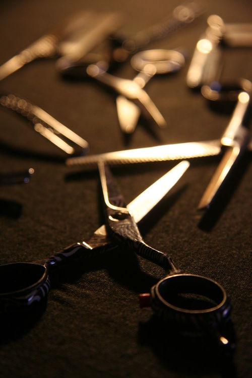 Hairdressers Equipment No 2 Scissors Close-up Equipment Hairdresser Hand Tool Job Passion Still Life Work Tool