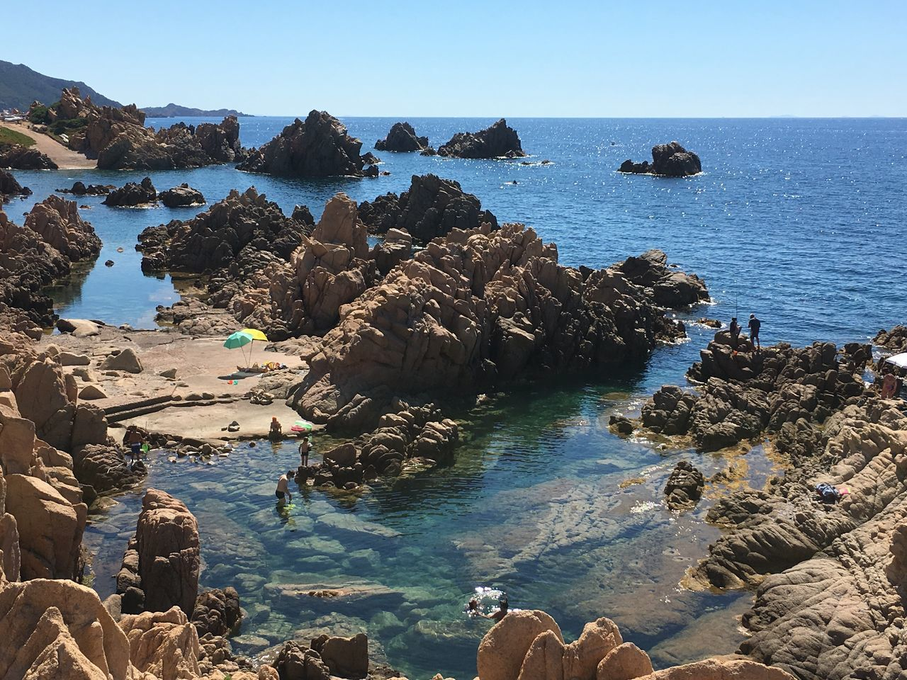Beach Beauty In Nature Costa Paradiso Nature Outdoors Rock Formation Sardegna Sardinia Scenics Sea Sky Sunlight Water