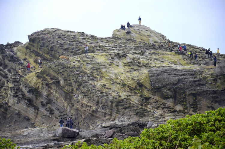 Cliff Leisure Activity Lifestyles Rock Rock - Object Rock Formation Rocky Mountains Tourism Tourist People Of The Oceans Hualien, Taiwan Feeling Good